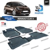 Xt Renault Clio 3 3D Havuzlu Paspas 2005-2013 Arası