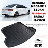 AutoEN Renault Megane 4 Sedan 3D Bagaj Havuzu 2016 ve üzeri