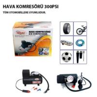 Tvet Hava Kompresörü Lastik Pompası Mini 12V 300 Psı