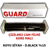 Tvet Cam Filmi Çizilmez %15 Koyu Siyah ( Dark Black ) 100Cm * 60M Guard
