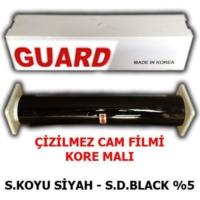 Tvet Cam Filmi Çizilmez %05 Süper Koyu Siyah ( Super Dark Black ) 152Cm * 60M Guard