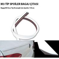 Tvet M3 Spoiler Bagaj Çıtası İnce Tip Beyaz 3.5Cm - 135Cm