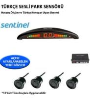 Tvet Türkçe Konuşan Park Sensörü Ekranlı Siyah Lensli Sentinel