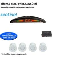 Tvet Türkçe Konuşan Park Sensörü Ekranlı Beyaz Lensli Sentinel