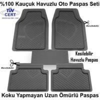 Tvet Renault Clio 3 Havuzlu Oto Paspas Kauçuk Gri