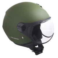 CGM Florence Koyu Yeşil Açık Motosiklet Kaskı Kısa Vizör 107A-FSA-07B Small