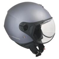 CGM Florence Gri Açık Motosiklet Kaskı Kısa Vizör 107A-FSA-18A Xsmall