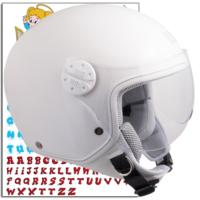 CGM Çocuk Motosiklet Kaskı Goodevil Beyaz 205S-FSA-14B Young Small