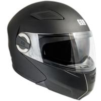 CGM Singapore Siyah Çene Açılır Motosiklet Kaskı 505A-BLV-01B Small