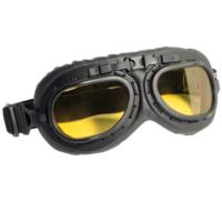 CGM Goggles Gözlük Vintage Sarı Cam Motosiklet Gözlük 704V-A06-01A