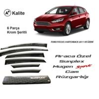 Sunplex Ford Focus 3 Hatchback Sunplex Mugen Tip Nikelajlı Cam Rüzgarlığı