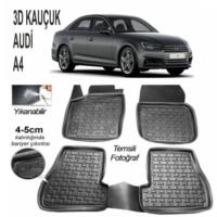 Leader 3D Kauçuk Paspas Audı A4 Hb-Sedan 2013 Ve Sonrası Uyumlu Siyah