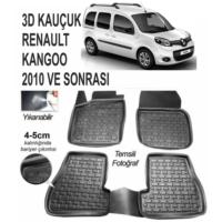 Leader 3D Paspas Renault Kangoo 2010 Ve Sonrası Uyumlu Siyah