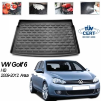 Image Volkswagen Golf 6 Hb Bagaj Havuzu Siyah 2009-2014