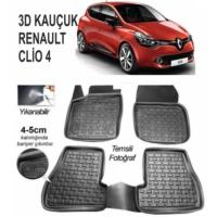Leader 3D Kauçuk Paspas Renault Clio 4 Uyumlu