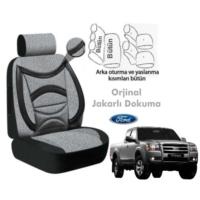 Süslenoto Ford Ranger Pick-Up Çift Kabin 2006-2009 Füme Oto Koltuk Kılıfı Ortopedik