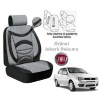 Süslenoto Fiat Albea Sedan 2002-2005 Füme Siyah Oto Koltuk Kılıfı Ortopedik