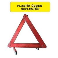 Süslenoto Üçgen Parlak Reflektör Plastik Ayaklı (Adet)