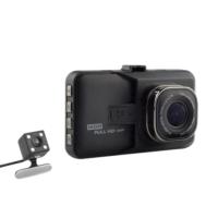 Allwinner 3 inç LCD Ekran Allwinner AW36D HDMI Çift Yön Geri Vites Türkçe Menü 12 MP Full HD 1080P 170/140 Derece Geniş Açı Lens Gece Görüşlü DVR Siyah Metal Kasa Araç İçi Kamera