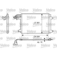 Valeo 817777 Klima Kondenseri (Kurutcu İle) A3-Leon-Toledo-Octavıa-Caddy Iıı-Golf Vı-Jetta Iv-Touran (584X401X16)