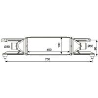 Gva 3328150 Turbo Radyatöru (Intercooler) Grande Punto 05>Lınea 07> 1.3 Mtj (70 Cv) (450X100X52)