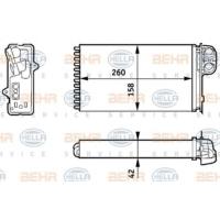 Behr 8Fh351313421 Kalorıfer Radyatoru ( Renault : Megane Scenıc 1.4I 1.6I 2.0I 1.9D 1.9Dt 1.9Dtı 97-03 )