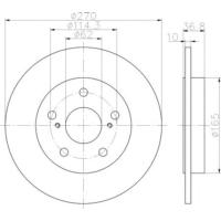 Elıtcarfd Efd4830 Arka Fren Aynası Aurıs-Corolla- 1.4Vvtı-1.6Vvtı-1.4 D4D-2.0 D4D-2.2D 03/07>(270X10X5Dl)