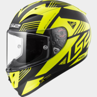 Ls2 Ff323 Neon Siyah-Sarı Kask S