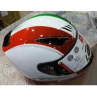 Motosiklet Kaskı Mt Revenge Binomy Gloss Beyaz/Kırmızı/Yeşil