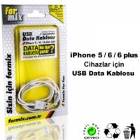For Mix Data Kablosu İphone 5/6 İnce Kablo