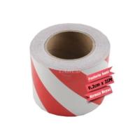 Carub Fosforlu Bant Çapraz 9,2Cmx25M Beyaz-Kırmızı