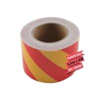 Carub Fosforlu Bant Çapraz 9,2Cmx25M Sarı-Kırmızı