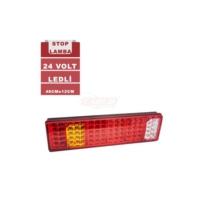 Stop Lambası 24 V Ledli 6 F Sarı-Kırmızı-Beyaz