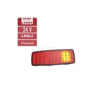 Stop Lambası 24V Ledli 3 Foksiyon Sarı-Kırmızı
