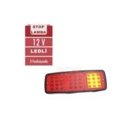 Stop Lambası 12V Ledli 3 Foksiyon Sarı-Kırmızı