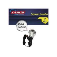 Seyyar Lamba 12V Krom Metal Kafesli