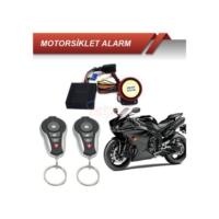 Motorsiklet Alarmı Kumandalı Siyah Krom