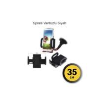 Telefon Tutucu 35cm Spralli Vantuzlu Siyah