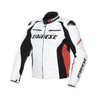 Dainese Racing D1 Pelle Beyaz Ceket