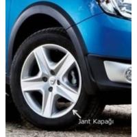 """Dacia Sandero Stepway Orjinal Model Çelik Jant Görünümlü Kırılmaz - Esnek Bijonlu Jant Kapağı 4""""lü Set"""
