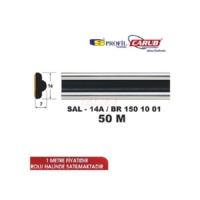 Çıta No:14A 131 Çıtası Siyah Krom 50Metre En:16mm SALMAN SAL14A