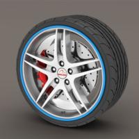 Simoni Racing Jant Çevresine Sportif Şerit ve Bijon Kapakları SMN102951