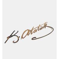 ModaCar Metal 29 Cm Atatürk İmzası Sticker 06a091