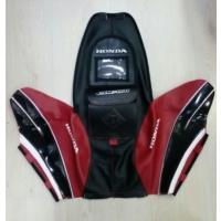 Motospartan Depo Kılıfı Honda Cbf150 2010 - 2016 Kırmızı Siyah Karbonlu