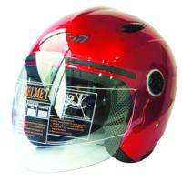 Spyder Motosiklet Kaskı Yarım Camlı 601 Kırmızı Xl