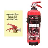 Rotacar 1 Kg Tse Ce Belgeli Abc Tozlu Kelepçeli Yangın Söndürücü