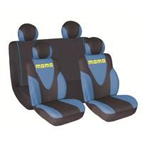 Momo 012 Spor Koltuk Kılıfı Seti ( Mavi/Siyah)