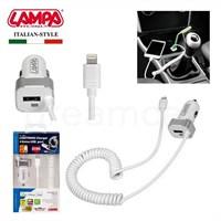 Lampa Apple İçin Hızlı Araç Şarjı+Extra Usb Port 2400Ma-5V 38927