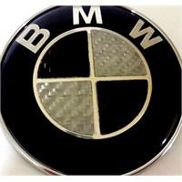 Bmw Karbon Logo 7.3 X 7.3 Gümüş Siyah