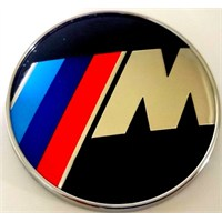 Bmw //M Karbon Logo 7.3 X 7.3 Gümüş